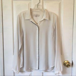 Airy button-down blouse (LOFT, size S)